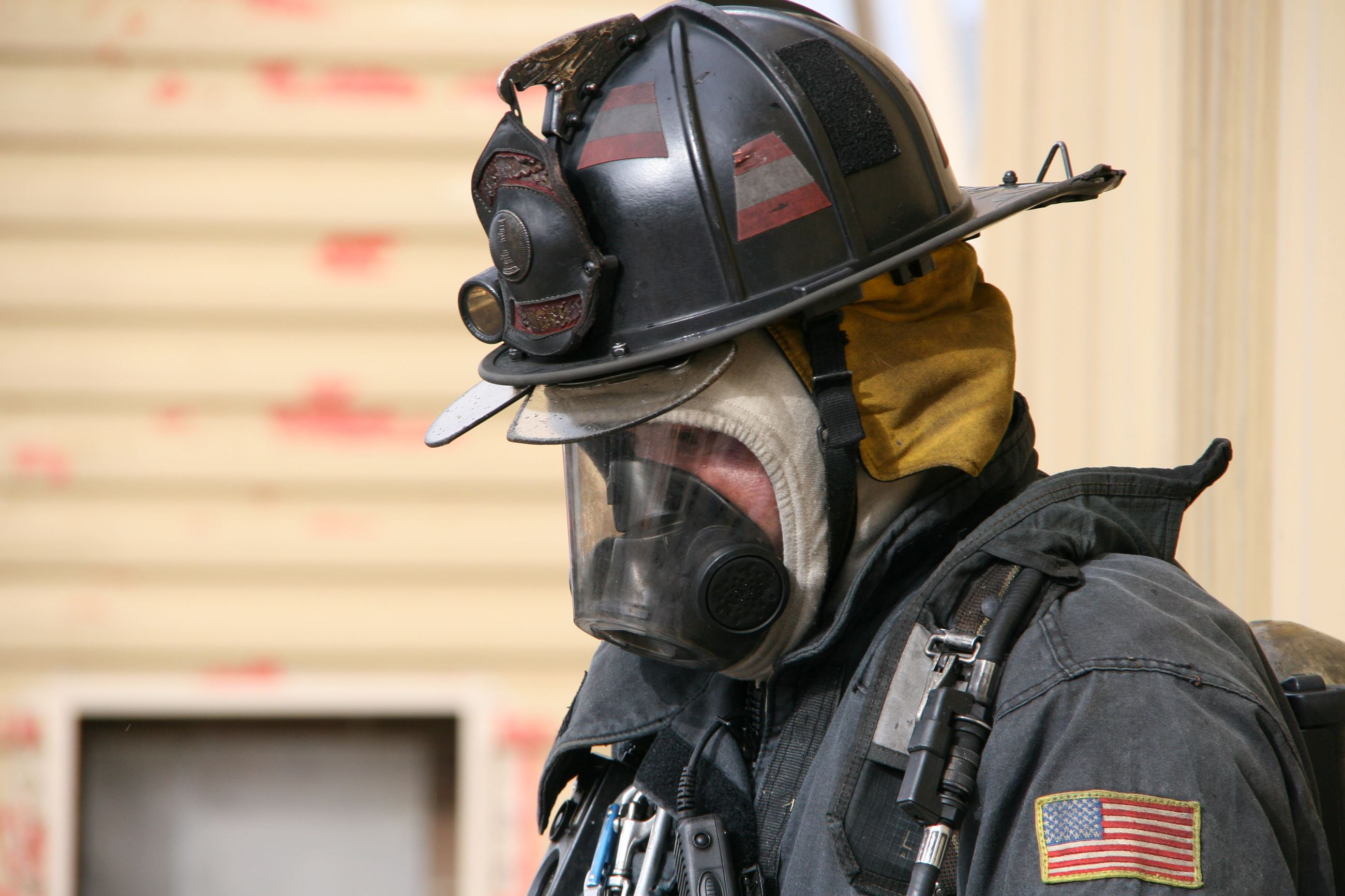 Firefighter in gear